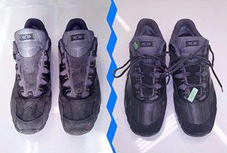 покраска обуви