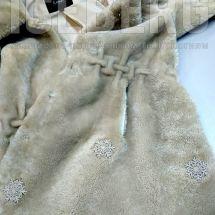 Женская шуба после ремонта аппликацией
