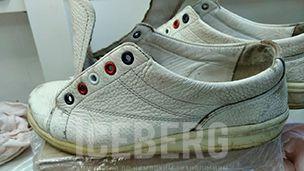 Восстановление белых кожаных кедов