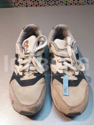Кроссовки бежевые комбинированные