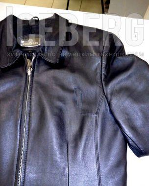 Ремонт женской кожаной куртки аппликацией