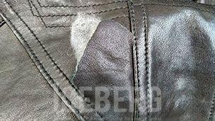 Покраска и ремонт кожаной куртки