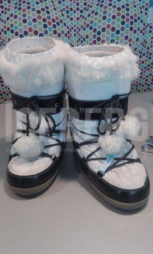 Сапожки с мехом до чистки в химчистке ICEBERG
