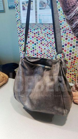 Кожаная сумка до покраски в химчистке ICEBERG