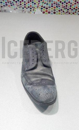 Мужские кожаные туфли до покраски в химчистке