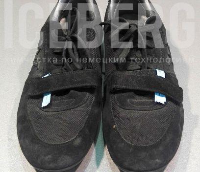 Замшевые кроссовки до покраски в химчистке ICEBERG