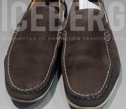 Замшевые туфли до чистки в химчистке ICEBERG